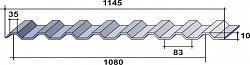 Профнастил НС10 схема